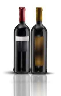 Modelo de rótulos de garrafa de vinho
