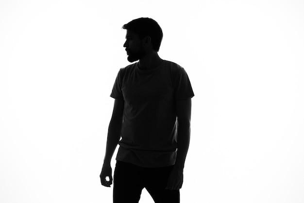 Modelo de silhueta de homem emocional
