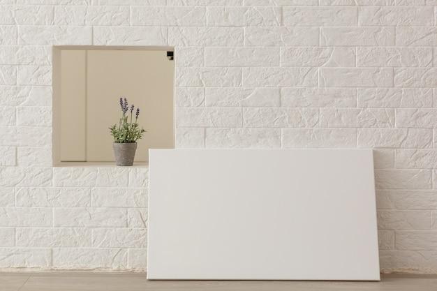Modelo de tela de foto em branco, foto feita em loft Foto Premium