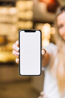 Modelo de telefone móvel de loja de pastelaria