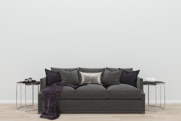 Modelo de textura de fundo de mesa lateral sofá marrom branco modelo de textura de fundo de mesa lateral preto