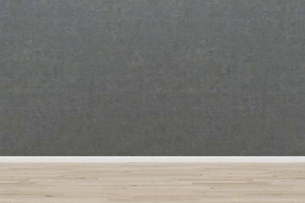 Modelo de textura de fundo vazio de quarto de piso de madeira velho muro de concreto