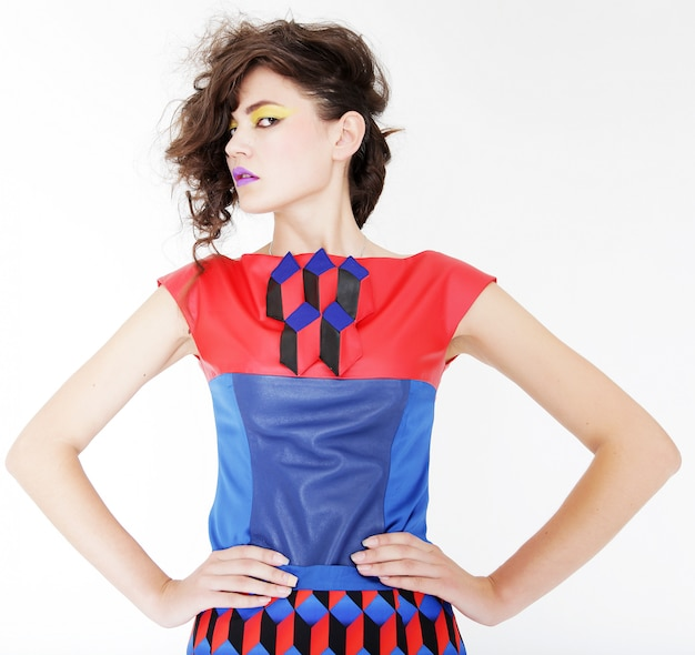 Modelo de vestido brilhante