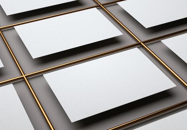Modelo moderno de cartões de visita brancos em branco para identidade de marca