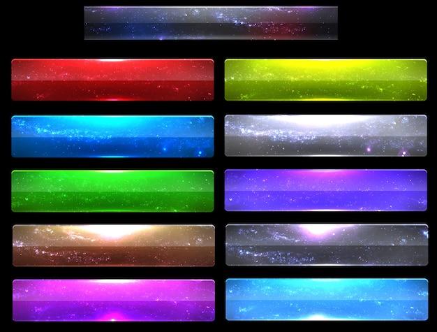 Modelo moderno de infográfico com opções de cores