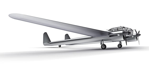 Modelo tridimensional da aeronave bombardeiro da segunda guerra mundial