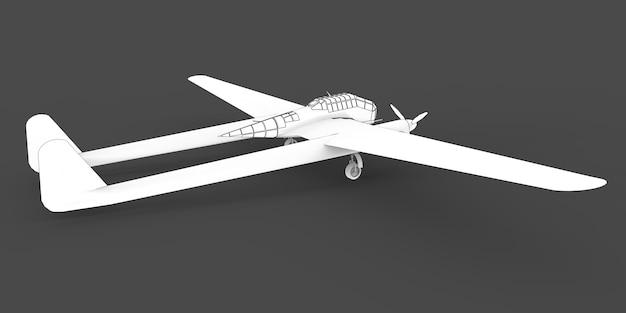 Modelo tridimensional do avião bombardeiro da segunda guerra mundial