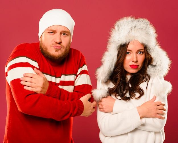 Modelos masculinos e femininos de congelamento