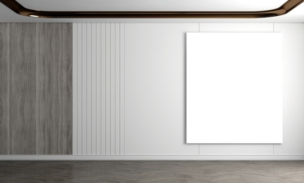 Moderna e aconchegante sala de estar e fundo de textura de parede de madeira e branco design de interiores