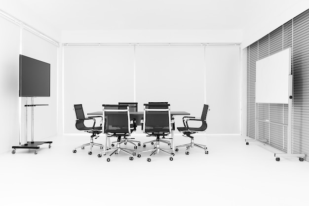 Moderna sala de conferências brilhante.