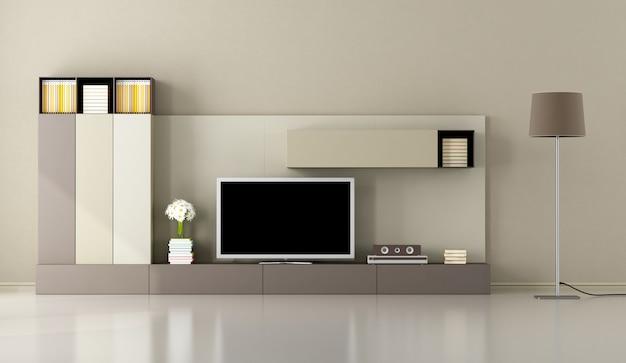 Moderna sala de estar com aparelho de tv