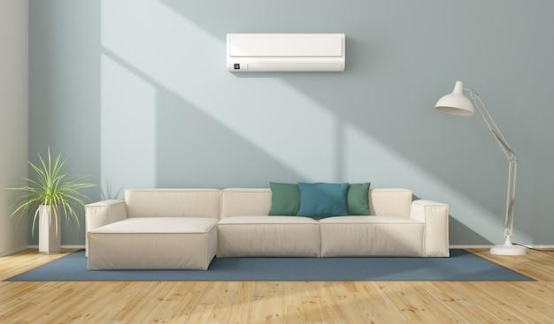 Moderna sala de estar com ar condicionado