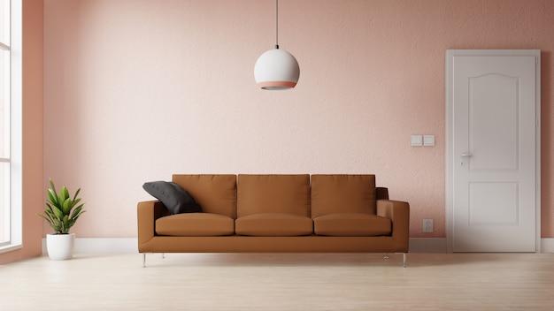 Moderna sala de estar com decoração colorida