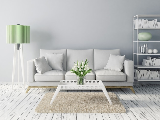 Moderna sala de estar interior