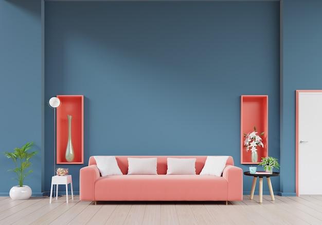 Moderna sala interior com sofá