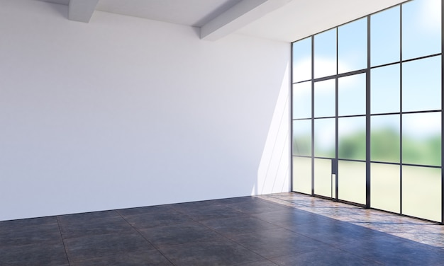 Moderna vazia sala de estar branca e textura de parede design de interiores de fundo