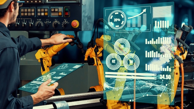 Modernização de braços robóticos inteligentes da indústria para tecnologia de fábrica inovadora
