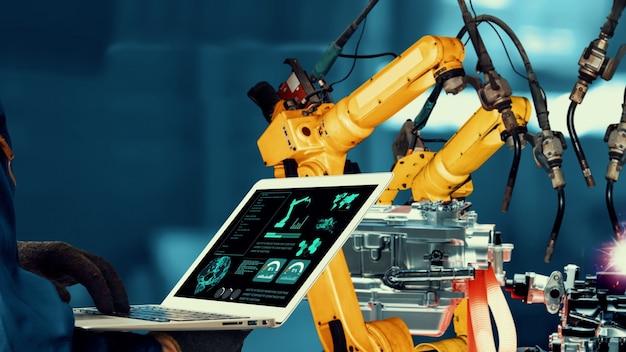 Modernização de braços robóticos inteligentes da indústria para tecnologia inovadora