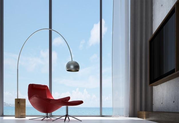Moderno design de sala de estar e sofá res e parede de concreto com textura de fundo