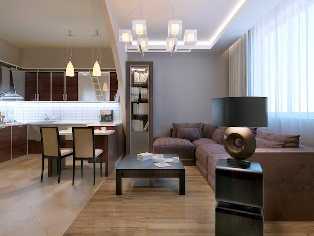 Moderno design de tendência de estúdio lounge