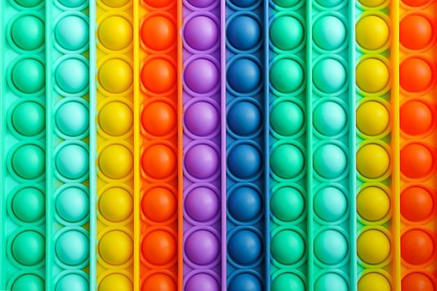 Moderno e popular brinquedo colorido anti-stress de silicone