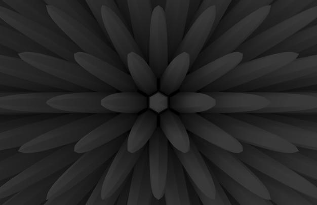 Moderno escuro extrude geometria bar em florescendo parede de padrão de forma de flor