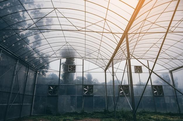 Moderno sistema agrícola fechado para o cultivo de plantas com tecnologia e inovação