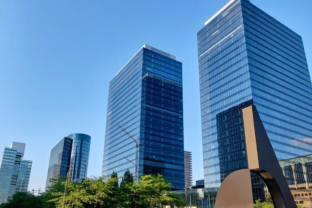 Modernos, edifícios, em, bruxelas, bélgica