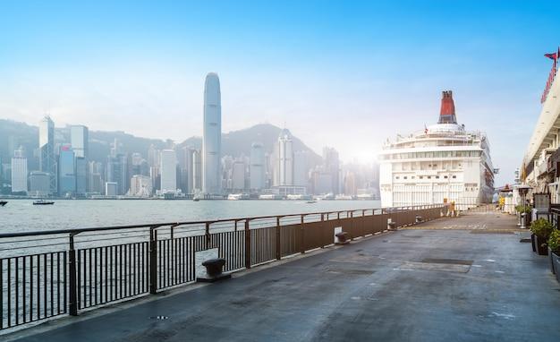 Modernos, escritório, edifícios, em, central, hong kong