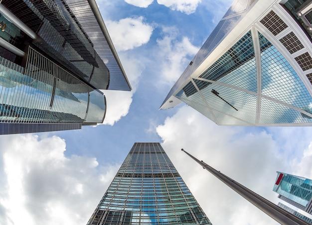 Modernos, escritório, edifícios, hong kong