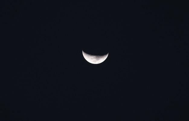 Modo de lua eclipse em noite escura