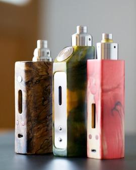 Mods de caixa regulada de madeira estabilizada com atomizador de gotejamento reconstruível e ponta de gotejamento, dispositivo de vaporização