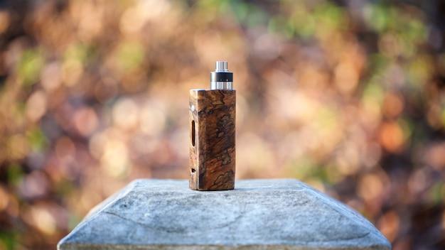 Mods naturais estabilizados da caixa de madeira da parte alta com o atomizador de gotejamento rebuildable