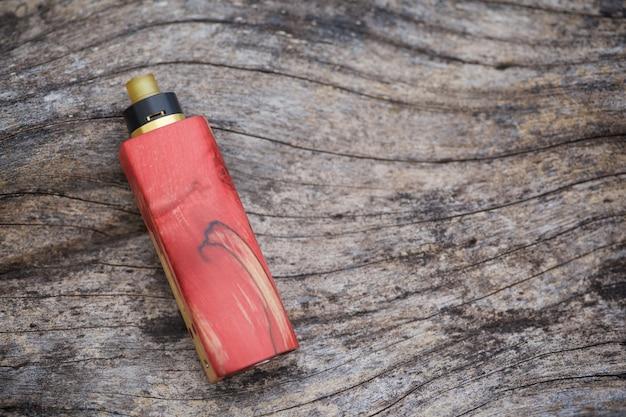 Mods regulados de madeira estabilizados naturais vermelhos da caixa com o atomizador de gotejamento rebuildable