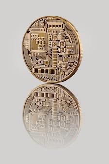 Moeda bitcoin de ouro