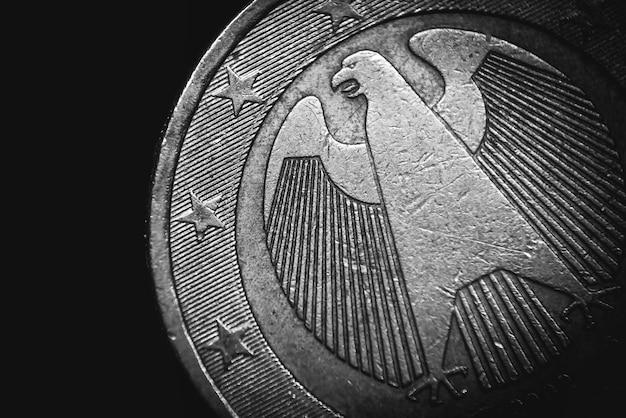 Moeda de euro alemã. conceito de negócios