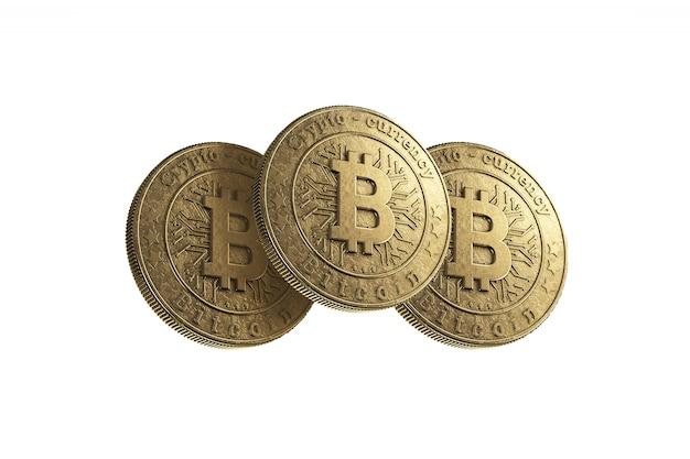 Moeda de ouro bitcoin em branco