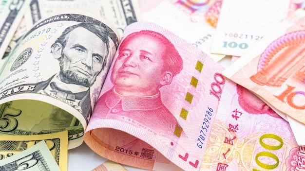 Moeda de papel chinês yuan renminbi bill notas