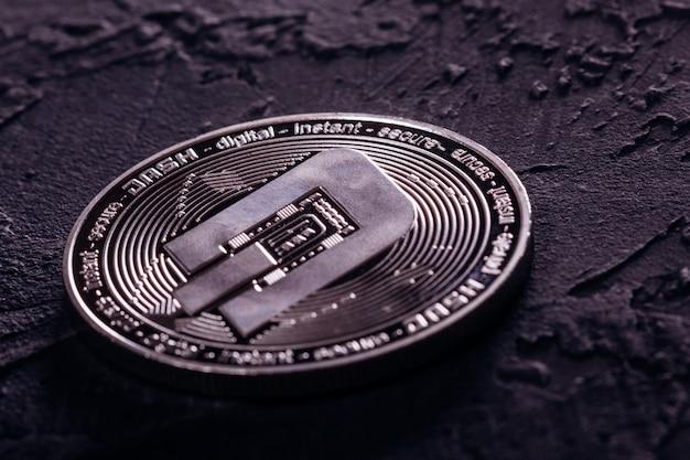 Moeda de traço bonita da moeda criptográfica