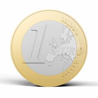 Moeda do euro 3d Foto Premium