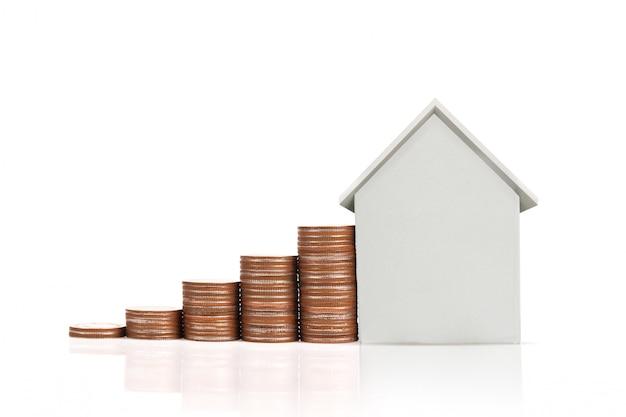Moeda pilha casa modelo de poupança planos para habitação