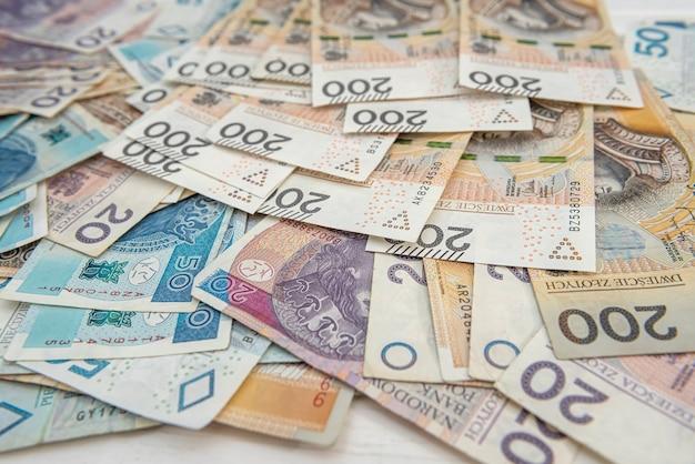 Moeda polonesa 20 50 200 pln