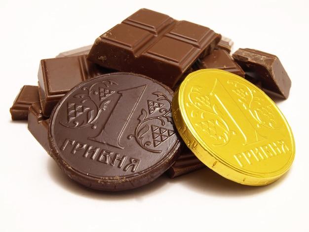 Moedas de chocolate