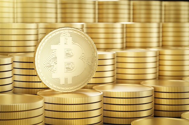 Moedas de ouro bitcoin
