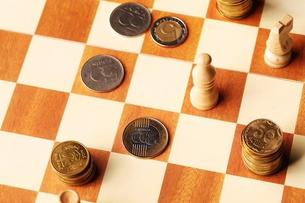Moedas no tabuleiro de xadrez