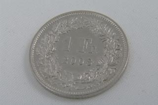 Moedas suíça chf, monnaie, suíça