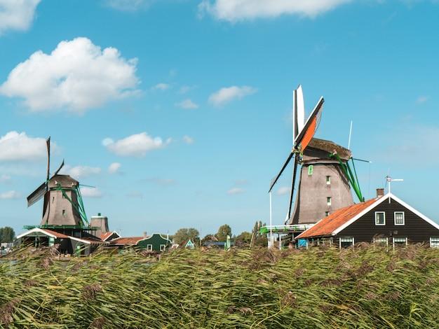 Moinho de vento em amsterdã