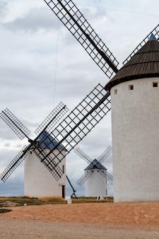 Moinhos vento, campo, de, criptana, ciudad, real, espanha