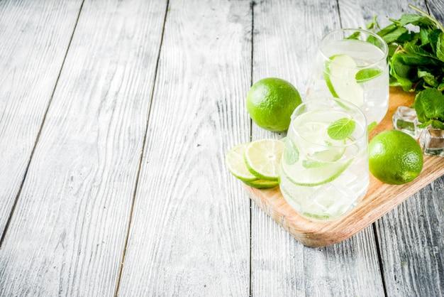 Mojito de cocktail azedo de verão