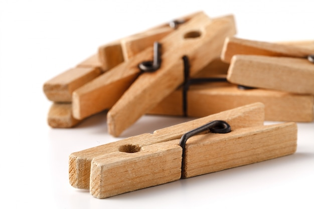 Molas para roupa de madeira para secar roupas